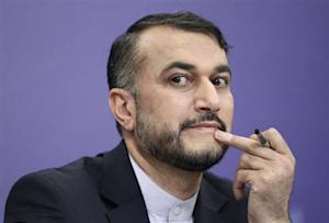 Iran's Deputy Minister for Arab and Foreign Affairs Hossein Amir Abdollahian attends a news conference in Moscow