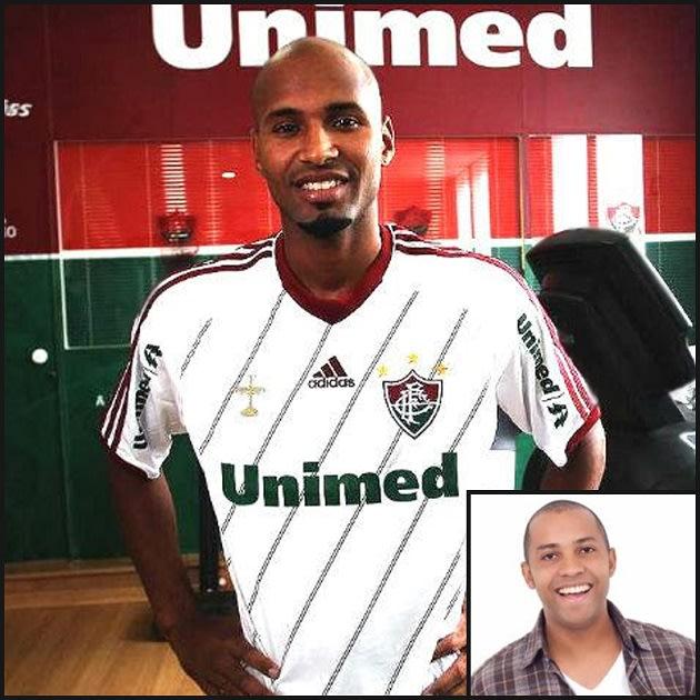 """Atualmente no Fluminense, foi no rival Flamengo que Wellington Silva recebeu o apelido de Salgadinho, ex-vocalista do grupo """"Katinguelê"""". Eles são parentes, né? (Crédito: Divulgação/Fluminense)"""