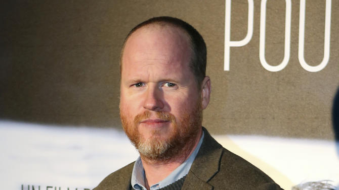 "FILE - This Jan. 21, 2014 file photo shows American film producer and director Joss Whedon at the screening of ""Much Ado About Nothing"" in Paris. Whedon will release a film he wrote as a $5 digital download, bypassing the normal channels of independent film distribution. In a video announcement Sunday following the premiere of the supernatural romance ""In Your Eyes"" at the Tribeca Film Festival, Whedon said that the film will immediately be released online worldwide via Vimeo On Demand. (AP Photo/Remy de la Mauviniere, File)"