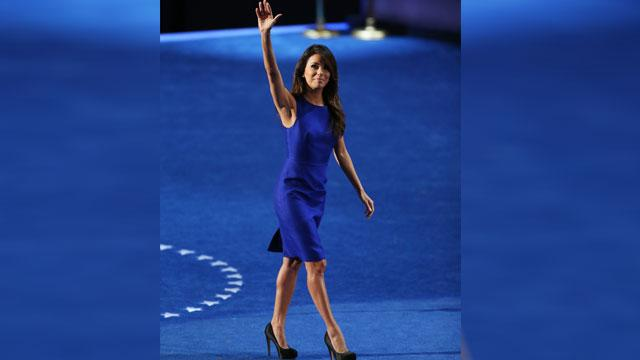 Eva Longoria Rallies for Barack at DNC