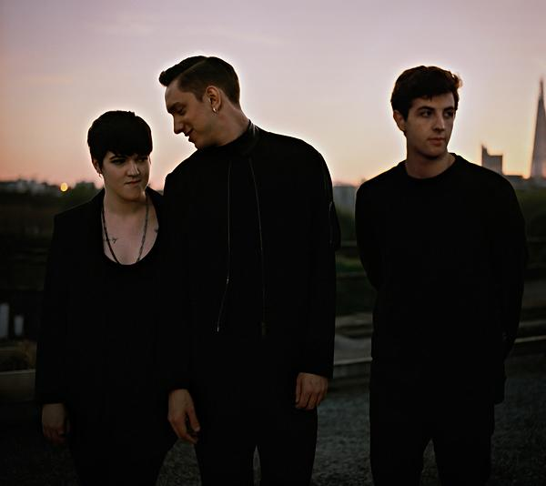 Romy Madley-Croft, Oliver Sim and Jamie Smith of the xx
