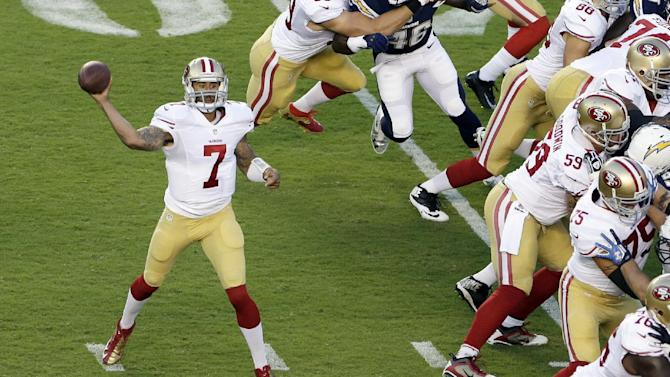 Kaepernick throws TD pass in 49ers' 41-6 win