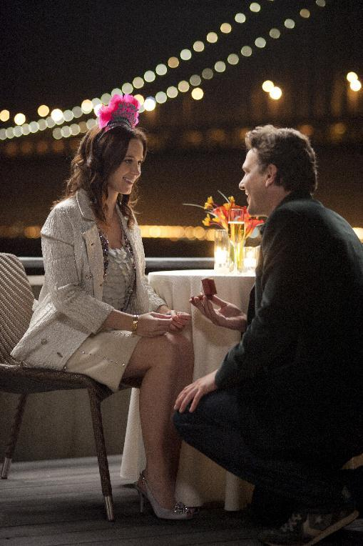 "In this film image released by Universal Pictures, Jason Segel, right, and Emily Blunt are shown in a scene from ""The Five-Year Engagement."" (AP Photo/Universal Pictures, Glen Wilson)"