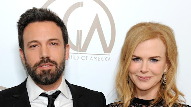 Actors Ben Affleck, left, and Nicole Kidman pose backstage at the 24th Annual Producers Guild (PGA) Awards at the Beverly Hilton Hotel on Saturday Jan. 26, 2013, in Beverly Hills, Calif. (Photo by Jordan Strauss/Invision for Producers Guild/AP Images)