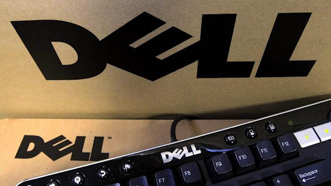 In this Nov. 14, 2011 photo, a Dell keyboard is posed with Dell packaging in Phoenix. Dell Inc., reports quarterly financial results Tuesday, Nov. 15, 2011, after the market close. (AP Photo/Ross D. Franklin)