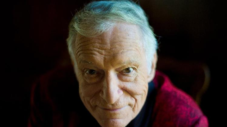 In this Oct. 13, 2011 photo, American magazine publisher, founder and Chief Creative Officer of Playboy Enterprises, Hugh Hefner at his home at the Playboy Mansion in Beverly Hills, Calif.  (AP Photo/Kristian Dowling)