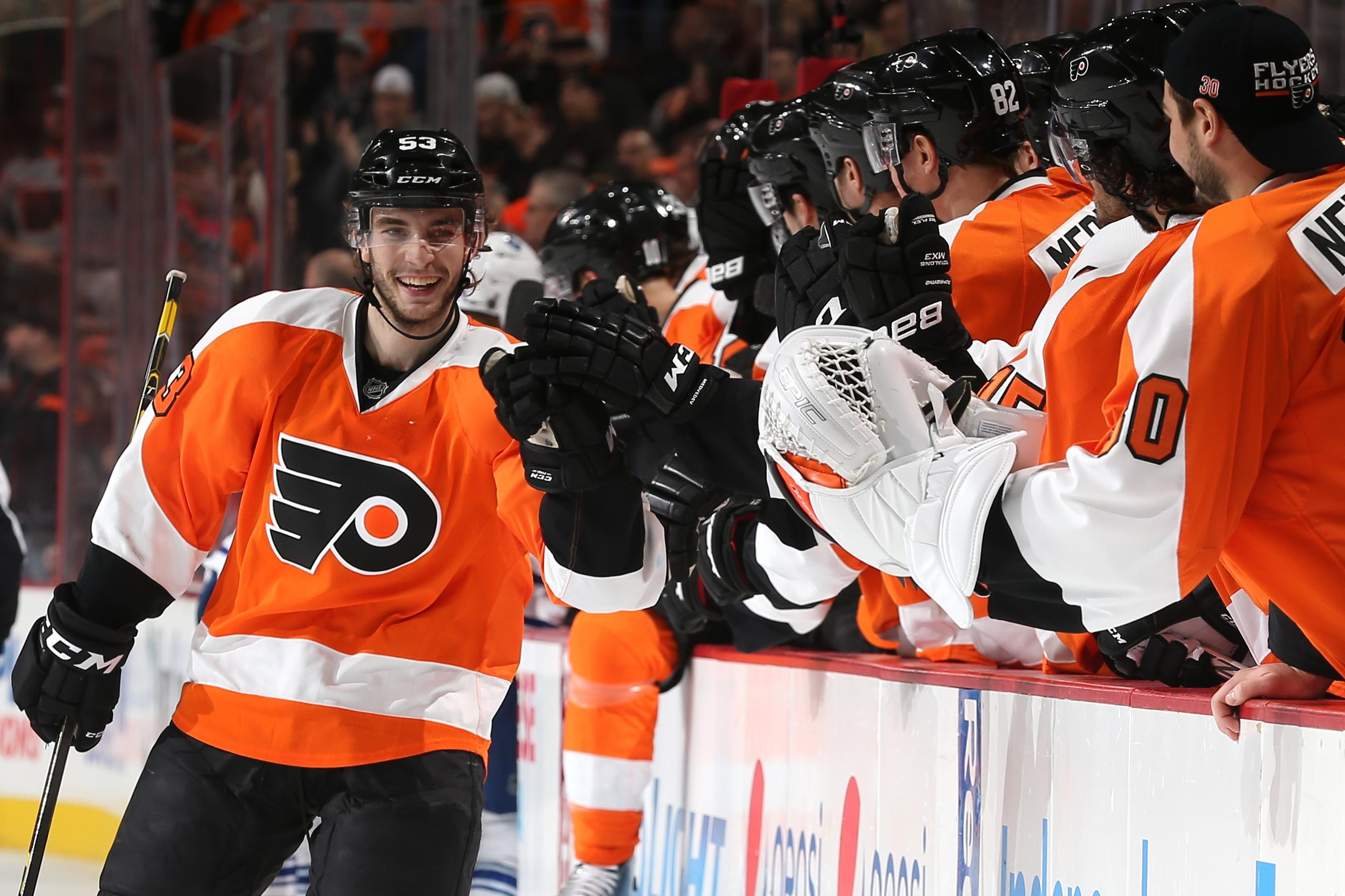 Gostisbehere sets rookie record, then speared in groin (Video)