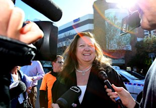 Billionaire Gina Rinehart may be richer than Bill Gates in a few years. (Photo by Paul Kane/Getty Images)