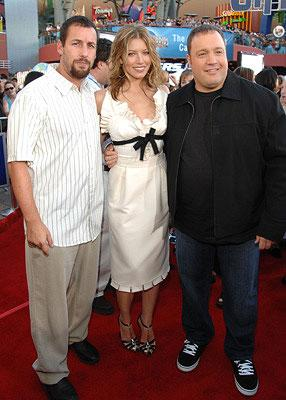 Adam Sandler , Jessica Biel and Kevin James at the premiere of Universal Pictures' I Now Pronounce You Chuck and Larry