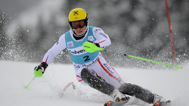 (FRANCE OUT) Marcel Hirscher Of Austria Takes Getty Images