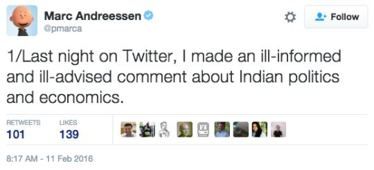 Chided By Zuckerberg, Andreessen Apologises Twice For Offending Indians
