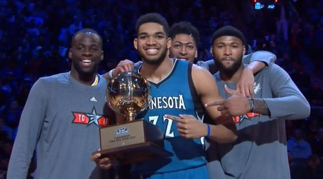 Karl-Anthony Towns And The Bigs Reign Supreme In A Thrilling Skills Challenge