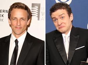 Seth Meyers, Justin Timberlake -- Getty Images