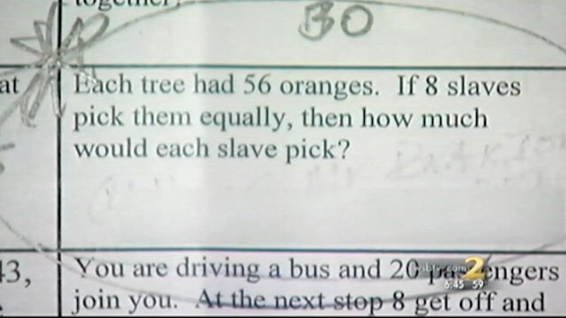 &#39;If Fred Got Two Beatings Per Day&#39; Homework Asks (ABC News)