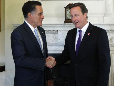 Raw Video: Romney meets with British P.M.
