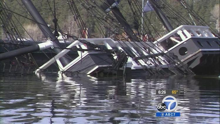 Big Bear Lake's pirate ship afloat again