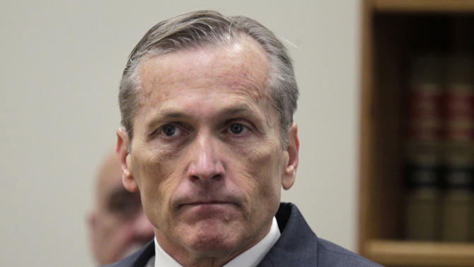 Martin MacNeill appears in Judge Derek Pullan's 4th District Court for his trial in Provo, Utah, Thursday, Oct. 17, 2013. MacNeill, a former doctor, is charged with murder in the 2007 death of his wife. MacNeill, 57, was charged in August 2012, nearly five years after his former beauty queen wife, Michele MacNeill, was found in the bathtub at the couple's Pleasant Grove home, about 35 miles south of Salt Lake City. Prosecutors said they will try to prove that MacNeill got a plastic surgeon to prescribe a powerful set of neurological drugs for her recovery that left her comatose in the bathtub. (AP Photo/The Salt Lake Tribune, Al Hartmann, Pool)