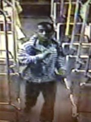 This image from video provided by the Los Angeles County Sheriff's Department shows a suspect officials say is accused of raping a mentally disabled woman on a city bus. Police say the suspect boarded the bus with the woman in Culver City, followed her to the back of the bus and forced himself on her late Wednesday, Nov. 7, 2012. A lone witness tried to alert the bus driver that the rape was happening, but it continued for about 10 minutes until the suspect stopped and exited the bus. (AP Photo/Los Angeles County Sheriff's Department)