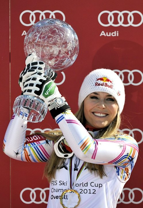 Lindsey Vonn From The US Raises AFP/Getty Images