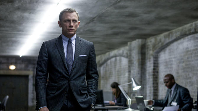 "This film image released by Sony Pictures shows Daniel Craig in a scene from the film ""Skyfall.""  Telecast producers of the 85th Academy Awards say the show will feature a celebration of the 50th anniversary of James Bond. Producers Craig Zadan and Neil Meron announced Friday that the show will pay tribute to the 50th anniversary of the James Bond film franchise, which they describe as ""the longest-running motion picture franchise in history and a beloved global phenomenon."" The Oscars will be presented Feb. 24 at the Dolby Theatre in Los Angeles. (AP Photo/Sony Pictures, Francois Duhamel)"