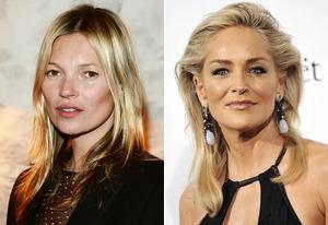 Kate Moss, Sharon Stone | Photo Credits: Venturelli/WireImage, Stefania D'Alessandro/Getty Images