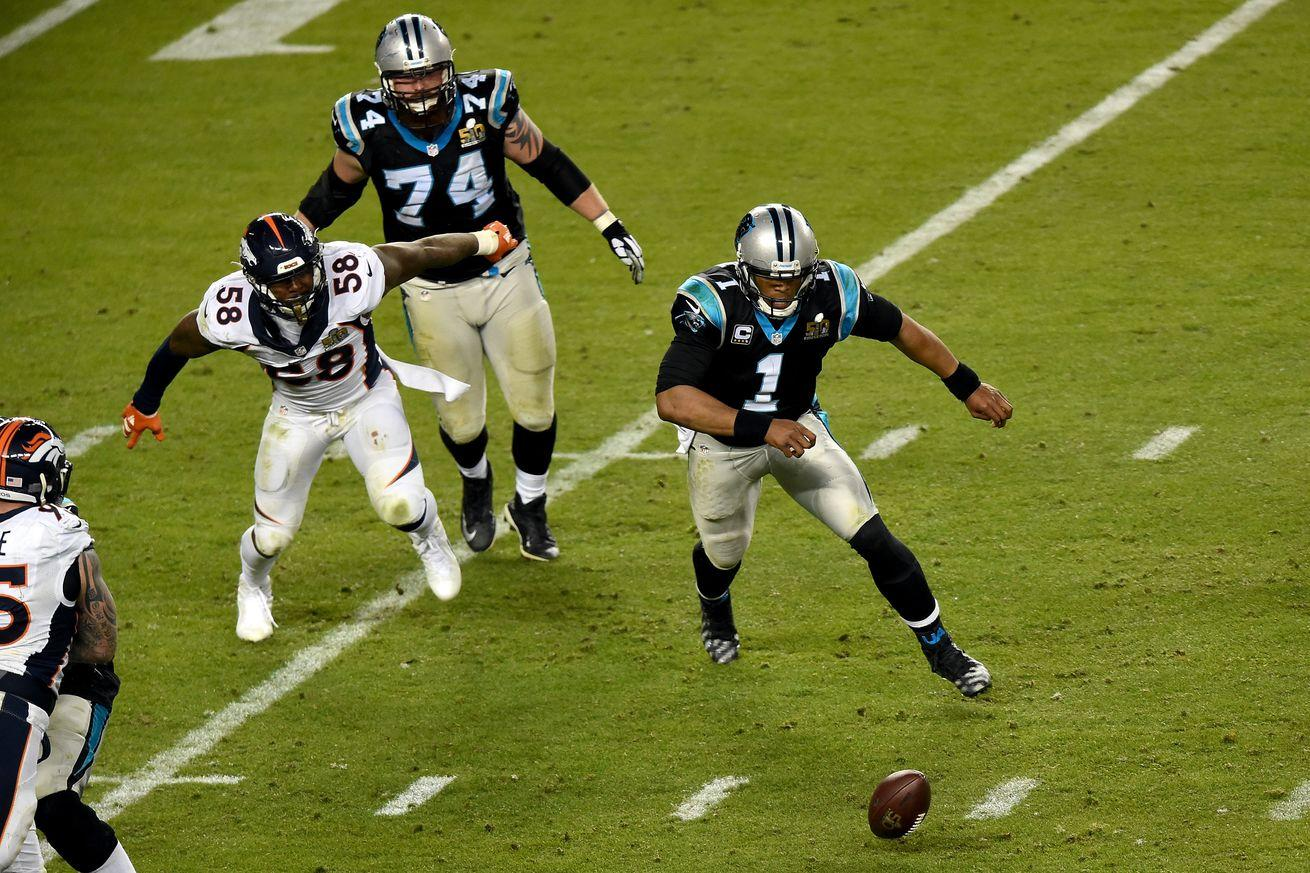 Cam Newton explains why he didn't jump on his fumble late in the Super Bowl