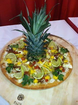 The Tropical Pie was just named the world's best pizza. (Courtesy of Goodfella's)