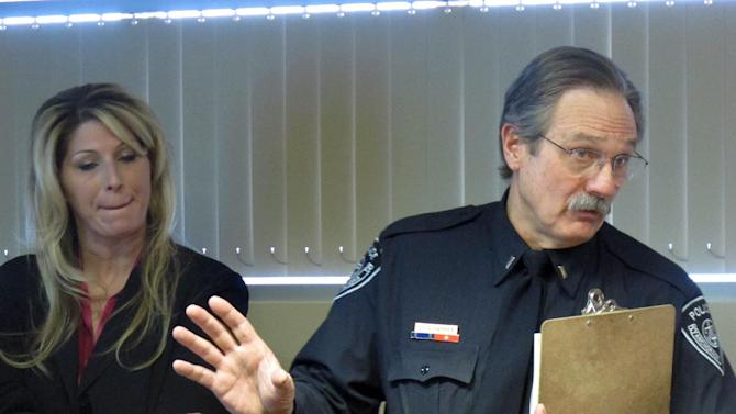 Anchorage Police Detective Monique Doll, left, and spokesman Lt. Dave Parker speak during a news conference Tuesday, Dec. 4, 2012, in Anchorage, Alaska. Authorities released more information of the Feb. 1, 2012, abduction of Samantha Koenig, 18, from a coffee stand in Anchorage. Police said Israel Keyes confessed to sexually assaulting and strangling the woman, and left her body in a shed at his Anchorage home while he went on a cruise. The FBI says he returned two weeks later, dismembered her body and disposed of in a frozen lake north of Anchorage. He was captured by authorities in Texas in March, and was found dead in his Anchorage jail cell Sunday, apparently by suicide. (AP Photo/Mark Thiessen)