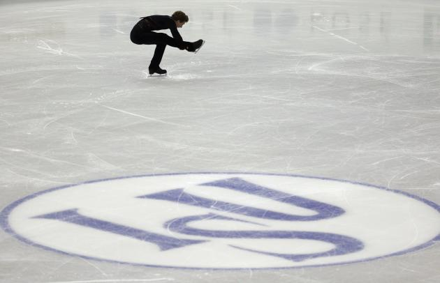 Kovtun of Russia performs during the men's short programme at the ISU Grand Prix of Figure Skating Final in Fukuoka