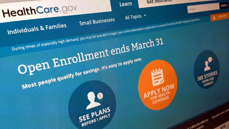 This March 1, 2014, photo shows part of the website for HealthCare.gov as photographed in Washington. Sick of hearing about the health care law? Plenty of people have tuned out after all the political jabber and website woes. Now is the time to tune back in, before it's too late. The big deadline is coming March 31. (AP Photo/Jon Elswick)