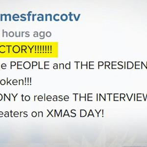 "Sony's ""The Interview"" to debut despite threat to theaters"