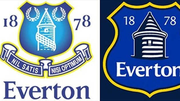 Everton old and new crests