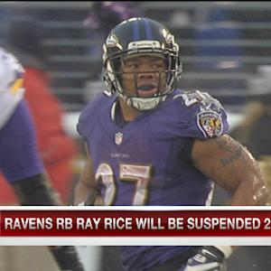 Baltimore Ravens running back Ray Rice will be suspended for two games