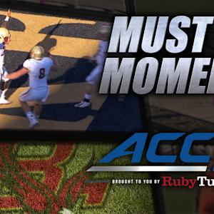 BC's Jon Hilliman Breaks Tackles for Beautiful 33-Yard Touchdown | ACC Must See Moment