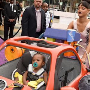 Rihanna Brings a Piece of 'Home' to the Purple Carpet