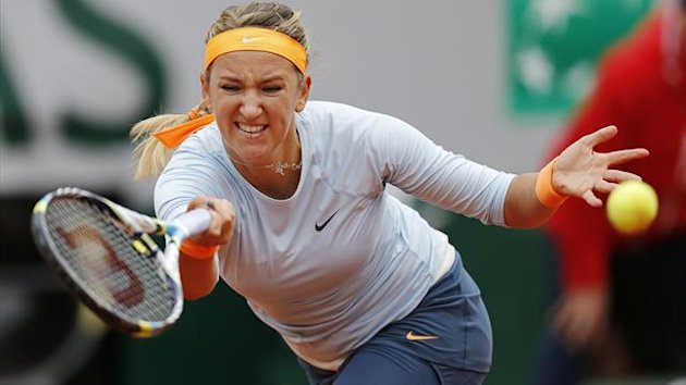 Victoria Azarenka of Belarus at the French Open (Reuters)