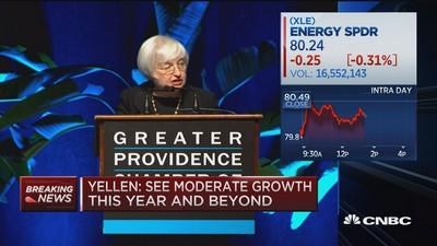 Yellen: Negative side of falling oil