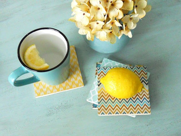 tile coasters DIY