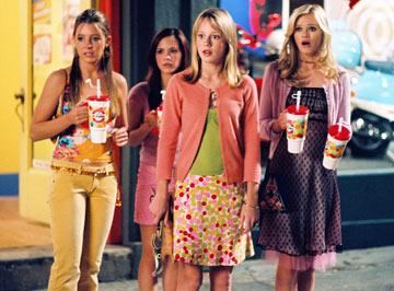 Katija Pevec , Eileen April Boylan , Brie Larson and Sara Paxton in MGM's Sleepover