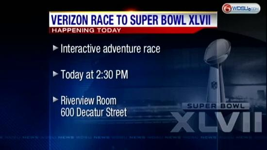 Verizon Race to Super Bowl XLVII kicks off NOLA 10
