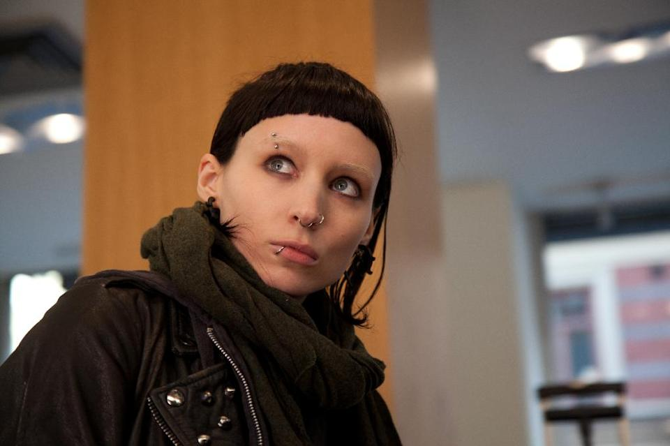 "In this film image released by Sony Pictures, Rooney Mara is shown in a scene from ""The Girl With The Dragon Tattoo."" Mara was nominated Thursday, Dec. 15, 2011 for a Golden Globe award for best actress in a drama for her role in the film. (AP Photo/Sony, Columbia Pictures, Merrick Morton)"