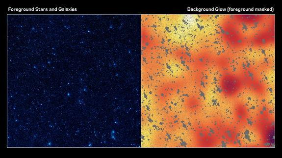 Mystery Glow of Dark Matter Halos Fueled by Extragalactic Stars