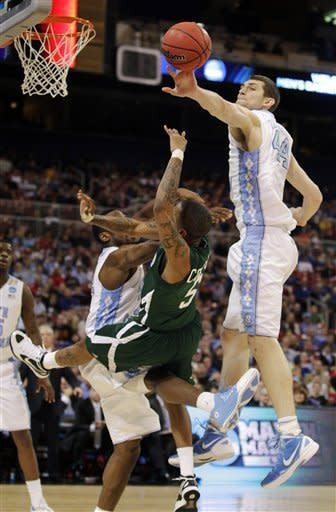 Barnes scores 5 in OT, NCarolina beats Ohio 73-65
