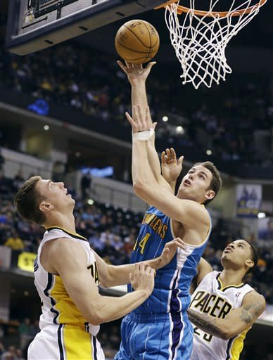 George, Hibbert lead Pacers over Hornets in OT