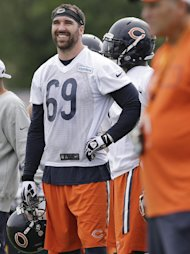 Chicago Bears defensive end Jared Allen (AP Photo/Nam Y. Huh)