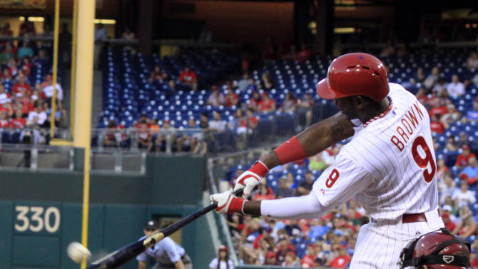 Brown powers Phillies over Diamondbacks 9-5