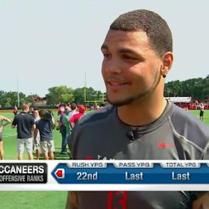 Tampa Bay Buccaneers wide receiver Mike Evans and Warren Sapp one-on-one
