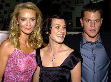 Joan Allen , Franka Potente and Matt Damon at the Hollywood premiere of Universal Pictures' The Bourne Supremacy