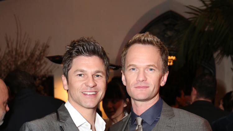 IMAGE DISTRIBUTED FOR InStyle - Neil Patrick Harris, right, and David Burtka attend Warner Music Group 2013 GRAMMY celebration along with InStyle presented by Mini at Chateau Marmont on Sunday, Feb. 10, 2012 in West Hollywood, Calif. (Photo by Casey Rodgers/Invision for InStyle/AP Images)