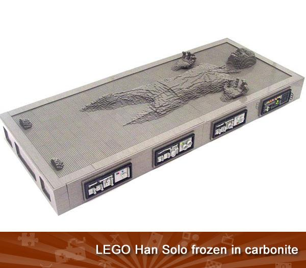 Lego Han Solo frozen in carbonite